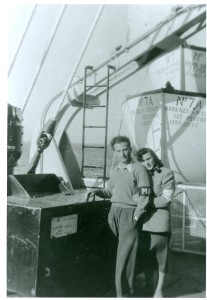 Roma and Sam on General Sturgis June 1950